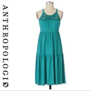 💕SALE💕 Anthropologie Green Layer Crochet Dress